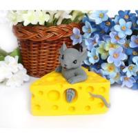 Мышка в сыре 3D, форма силиконовая