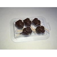 Мопс на палочке МФ, 1шт, форма для мыла и шоколада пластиковая