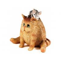 Мышка на коте 3D, форма силиконовая