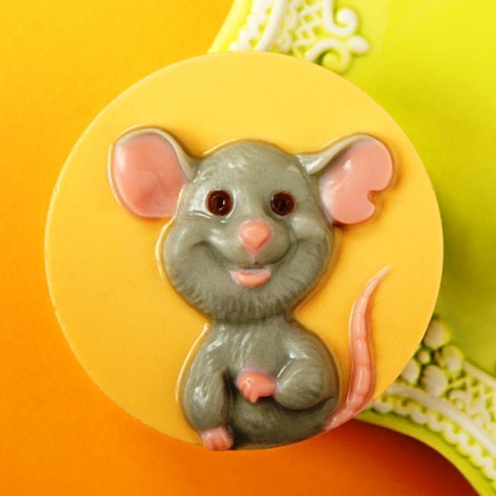 Мышь счастливая ТД, 1 шт, форма пластиковая
