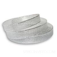 Лента парча серебро 6 мм, 1 шт