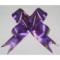 Бант-бабочка 15*300, фиолетовый с полосой