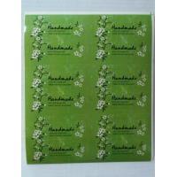 Наклейки Hand made зеленые, 1 лист