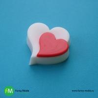 Два сердца, форма пластиковая