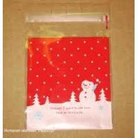 """Пакет с липкой лентой """"Снеговик"""", 1 шт"""