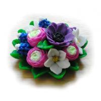 Букет полевых цветов 3D, форма силиконовая
