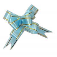 Бант бабочка 18*390, голубой с полосой