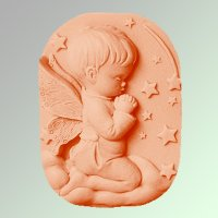 Ангел снов мальчик 2D, форма силиконовая