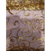 Сумочка органза 10*12 см Золотой орнамент
