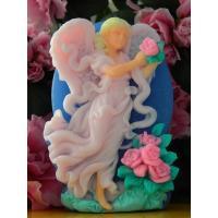 Ангел с цветами 2D, форма силиконовая