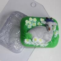Коза на лугу, форма для мыла пластиковая