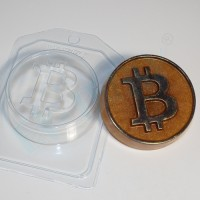 Биткоин ЕХ, 1шт, форма пластиковая