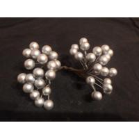 Две ягоды на проволоке (серебро), 1 уп