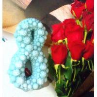 8 марта №9 (Жемчуг с розами) 2D, форма силиконовая