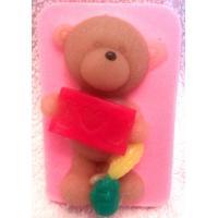Медведь I love you, форма силиконовая