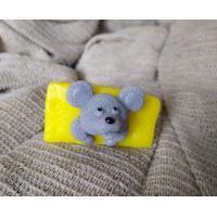 Мышонок в сыре 3D, форма силиконовая