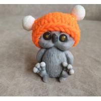 Совенок в шапке 3D, форма силиконовая