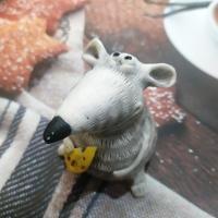 Мышка с сыром 3D, форма силиконовая