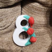 8 марта №23 (3 тюльпана) 2D,форма силиконовая