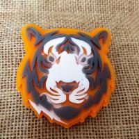 Тигр 2D, форма силиконовая