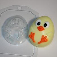 Цыпленок мультяшный ЕХ, 1шт, форма пластиковая