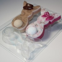 Кролики плоские Парочка ЕХ, 1шт, форма пластиковая