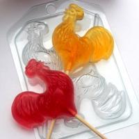 Петушки на палочке ЕХ, 1 шт, форма для мыла пластиковая