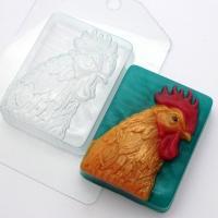 Петух Портрет ЕХ, 1 шт, форма для мыла пластиковая
