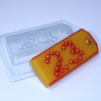 Погон/Звёзды 23 ЕХ, 1 шт, форма для мыла пластиковая