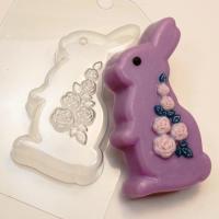 Кролик / Розы ЕХ, 1шт, форма пластиковая