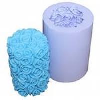 Цилиндр Розы 3D, форма силиконовая