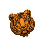 Тигр гравюра, 1 шт, форма пластиковая